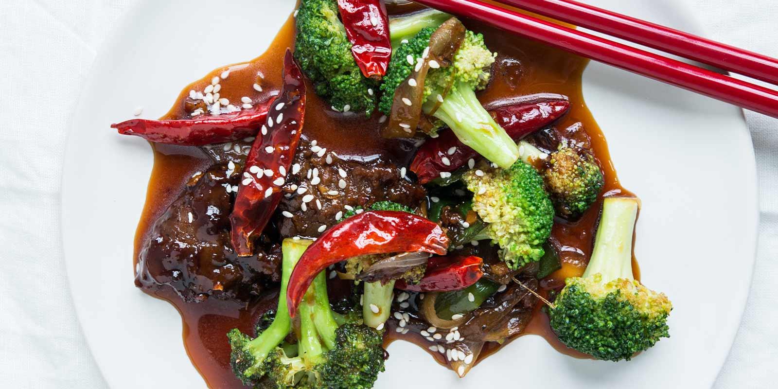 Orange Szechuan Broccoli & Grain Meat