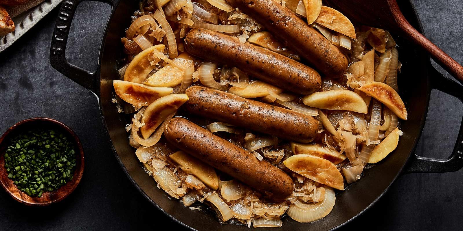 Beer Braised Sausages