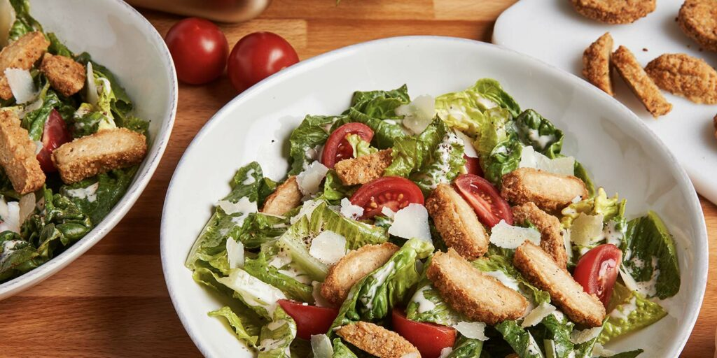 Fried Chick'n Caesar Salad