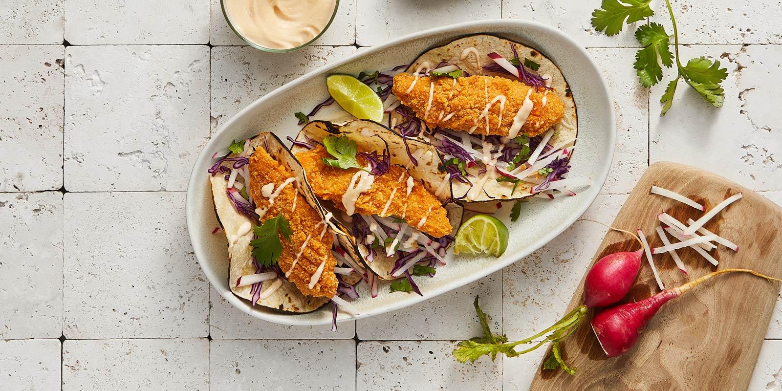 Baja Chick'n Tender Tacos